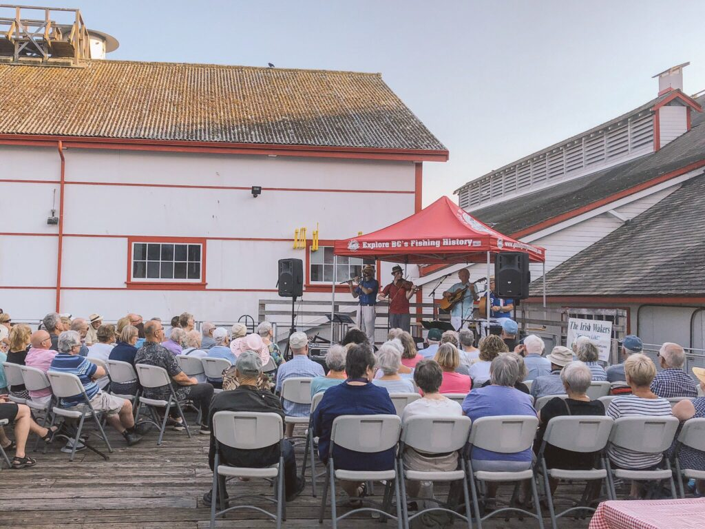 Outdoor concert at the Gulf of Georgia Cannery historic site